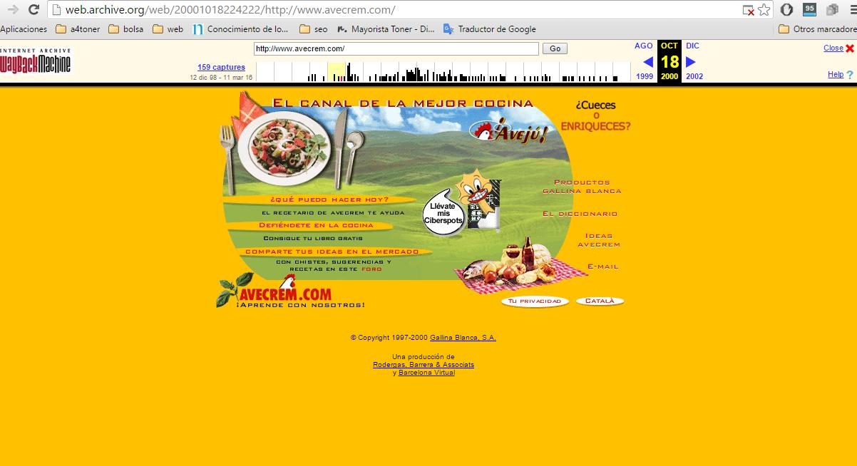 marketing de contenidos en el año 2000